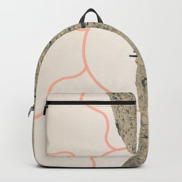 Wonder Rift // Abstract Vintage Mountains Summer Sun Surfer Beach Vibes Drawing Happy Wall Decor Backpack