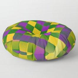 Harlequin Mardi Gras pattern Floor Pillow