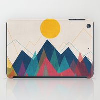 mountains iPad Cases featuring Uphill Battle by Picomodi