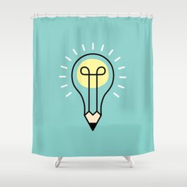 Mighty Pencil Shower Curtain