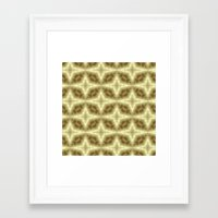 coasters Framed Art Prints featuring Abstract Gold Pattern by Lena Photo Art