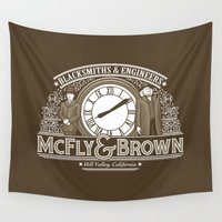 mcfly Wall Tapestries featuring McFly & Brown Blacksmiths by Doodle Dojo