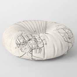 Parachute Patent - Sky Diving Art - Antique Floor Pillow