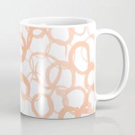 Watercolor Circle Peach Coffee Mug