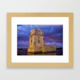 A Torre de Belem Framed Art Print