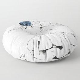 lovely breakfast Floor Pillow