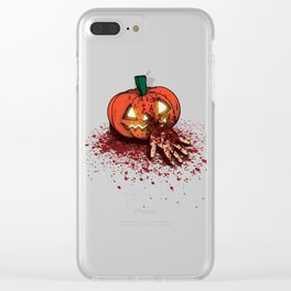 Bloody Pumpkin Clear iPhone Case