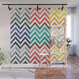 Colorful Flat Herringbone Pattern Wall Mural