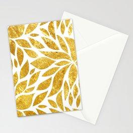 Golden Bloom Stationery Cards