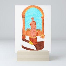 Antique lady Mini Art Print