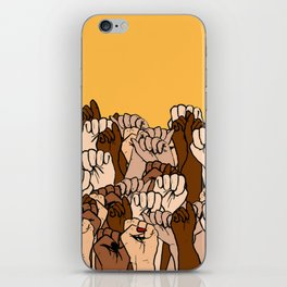 Power fists iPhone Skin