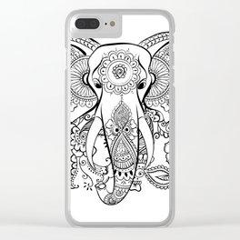 boho art Clear iPhone Case