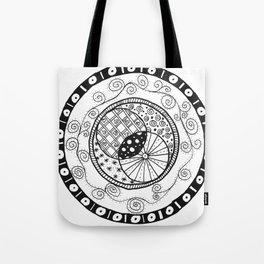 Circle Doodle Tote Bag