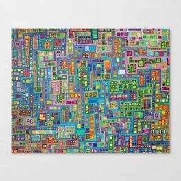 Tiled City Canvas Print
