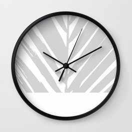 Tropical Grey Palm #society6 #decor #buyart Wall Clock