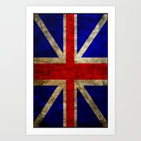 british flag Art Prints featuring British Flag by Jason Michael