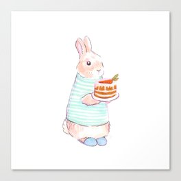 Carrot Cake Bunny Canvas Print