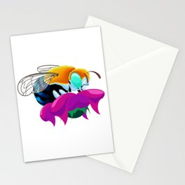 Blue Banded Bee Stationery Cards