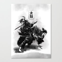 Taiko - Dance of the swords Canvas Print