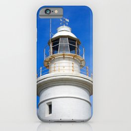 old white lighthouse - paphos iPhone Case