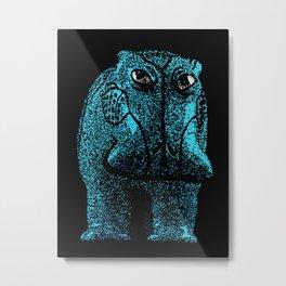 Blue Hippo Metal Print
