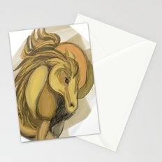 Golden horse Stationery Cards
