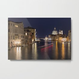 Grand Canal of Venice at Night Metal Print