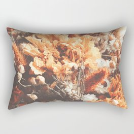 Warm Autumn Dried Flowers Photography Rectangular Pillow