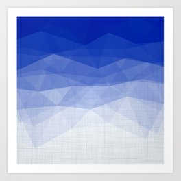 Imperial Lapis Lazuli - Triangles Minimalism Geometry Art Print