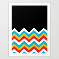 Color Blocked Chevron 18 Art Print