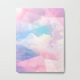 Cotton Candy Geometric Sky #homedecor #magical #lifestyle Metal Print