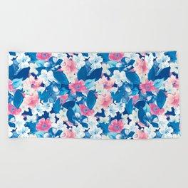 Bloom Blue Beach Towel