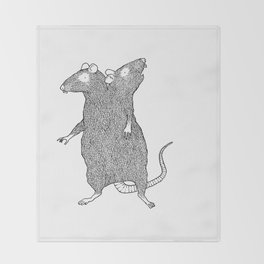 Two Headed Rat, I Love You Throw Blanket