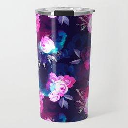 Dark Bloom Pattern by Heidi Appel Travel Mug