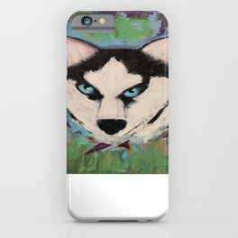 Husky Painting iPhone Case