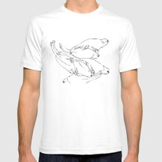 Birdsong 6 Mens Fitted Tee White SMALL