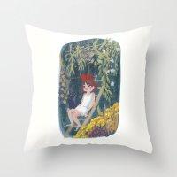 kiki Throw Pillows featuring Kiki by Verity