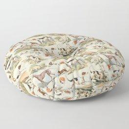 Hounds - Champagne ecru Floor Pillow