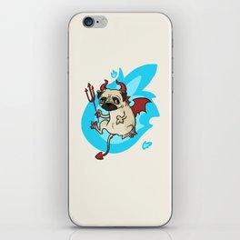Pug Devil iPhone Skin
