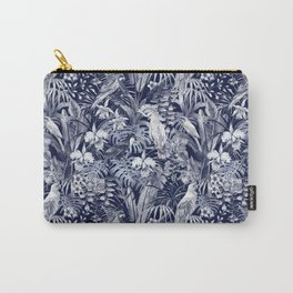blue tropical birds pattern Carry-All Pouch