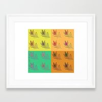 popart Framed Art Prints featuring Feathers PopART by UnifiedGlory