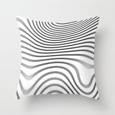 Organic Abstract 02 WHITE Throw Pillow