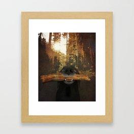 Playful Labrador Framed Art Print