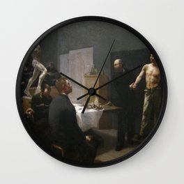 François Sallé - The Anatomy Class at the École des Beaux-Arts Wall Clock