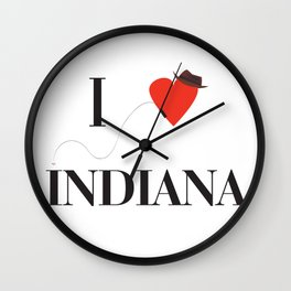 I heart Indiana Wall Clock