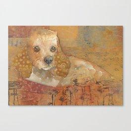 The Cozy Cocker Canvas Print