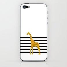 Gold Giraffe iPhone & iPod Skin