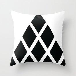 Black Stone Pyramid Throw Pillow