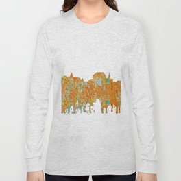 Augusta, Maine Skyline - Rust Long Sleeve T-shirt