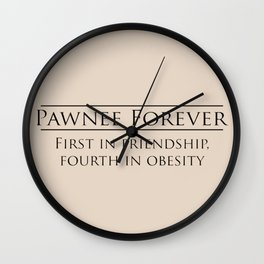 Pawnee Wall Clock